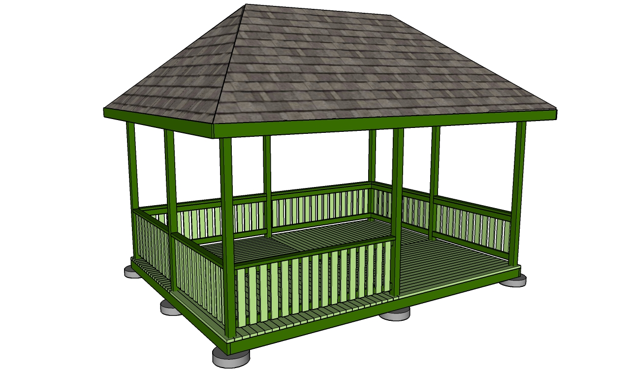 Square Gazebo Roof Plans Howtospecialist How To Build
