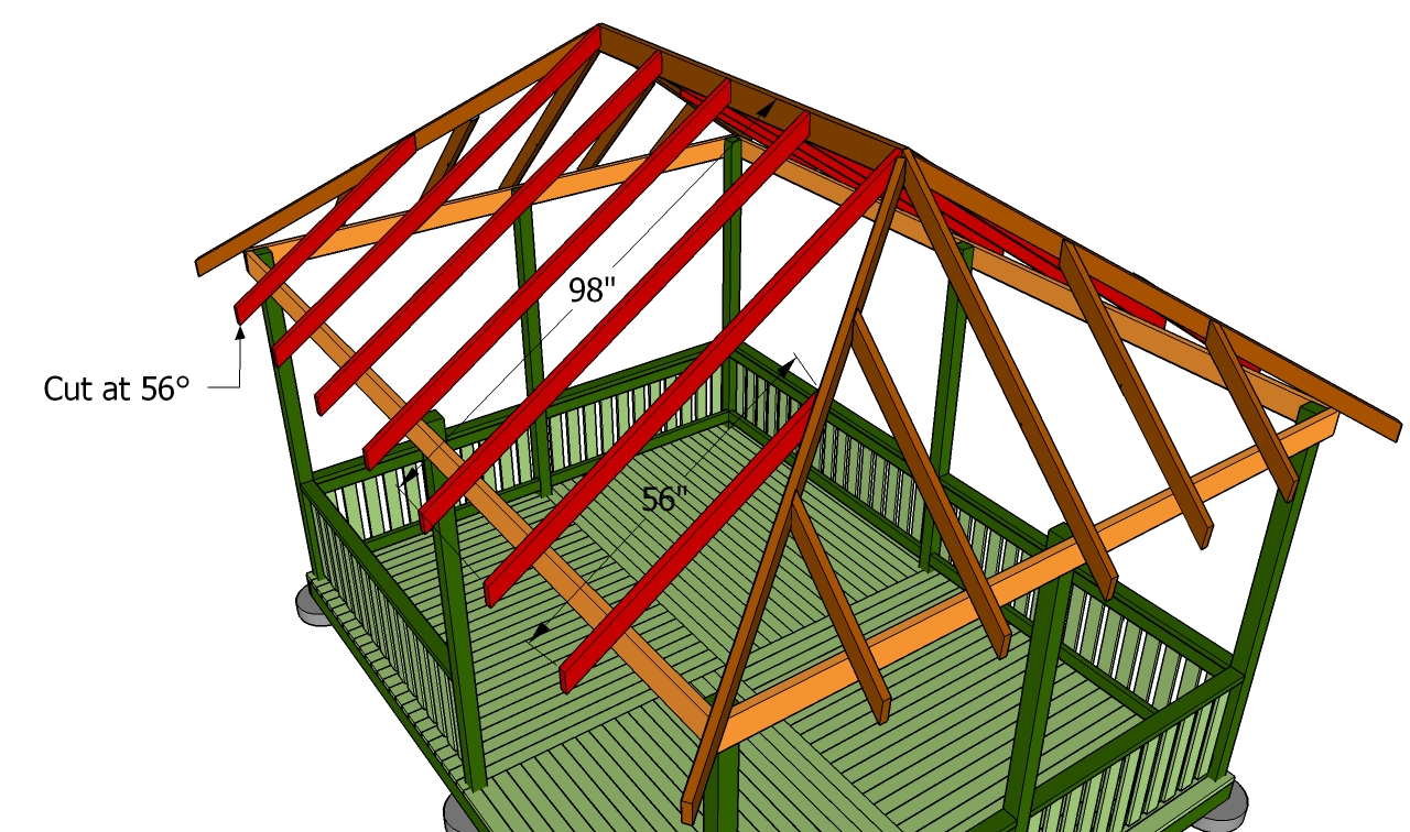 How To Build A Gazebo Roof Howtospecialist How To
