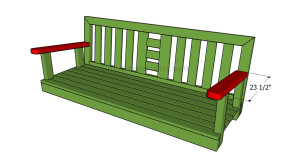 Jordan Manufacturing Floral Outdoor Swing/Glider/Bench Cushion