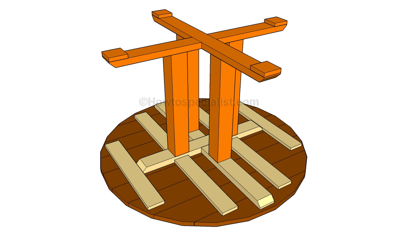 Изготовление круглого стола из дерева своими руками 96