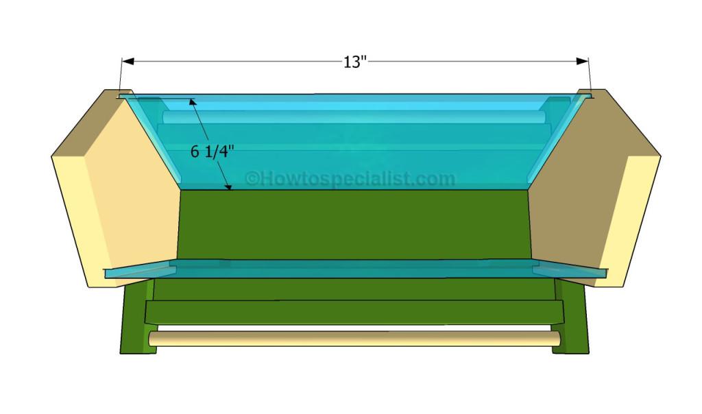 Attaching the plexiglass walls