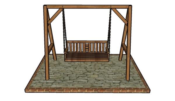 Building an A-frame swing