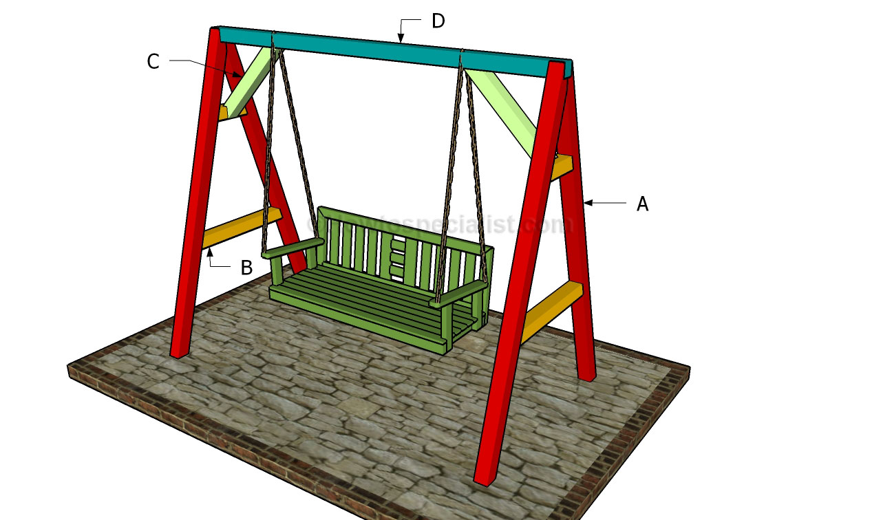 How to build an a frame swing howtospecialist how to for Frame plan