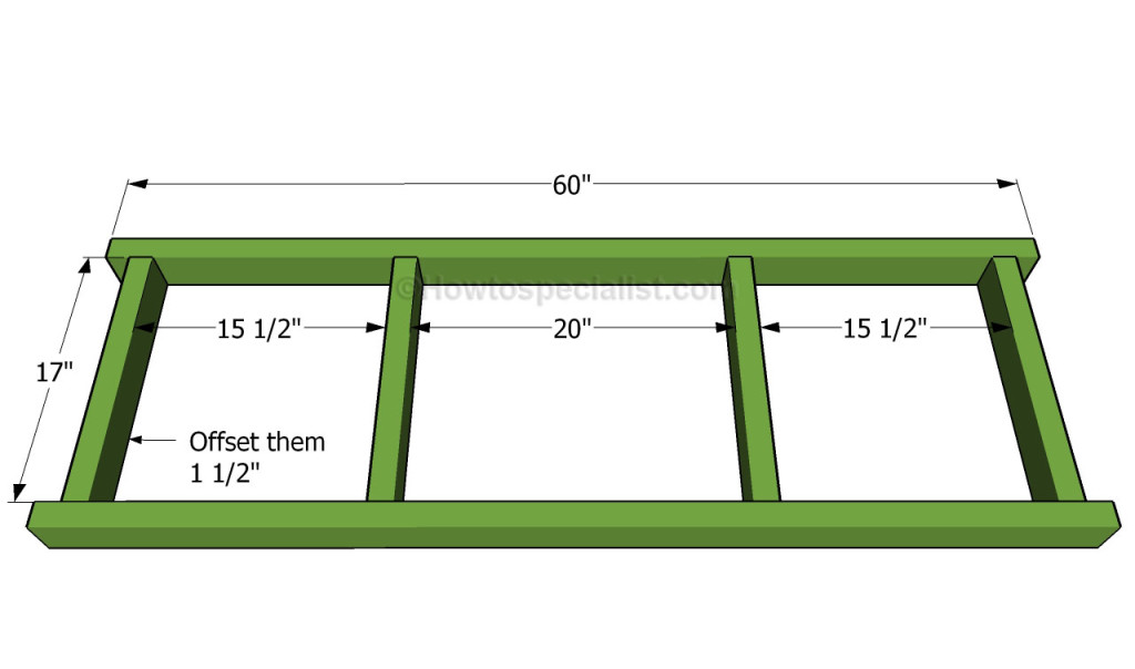 How to build a porch swing howtospecialist how to for Bench swing frame plans
