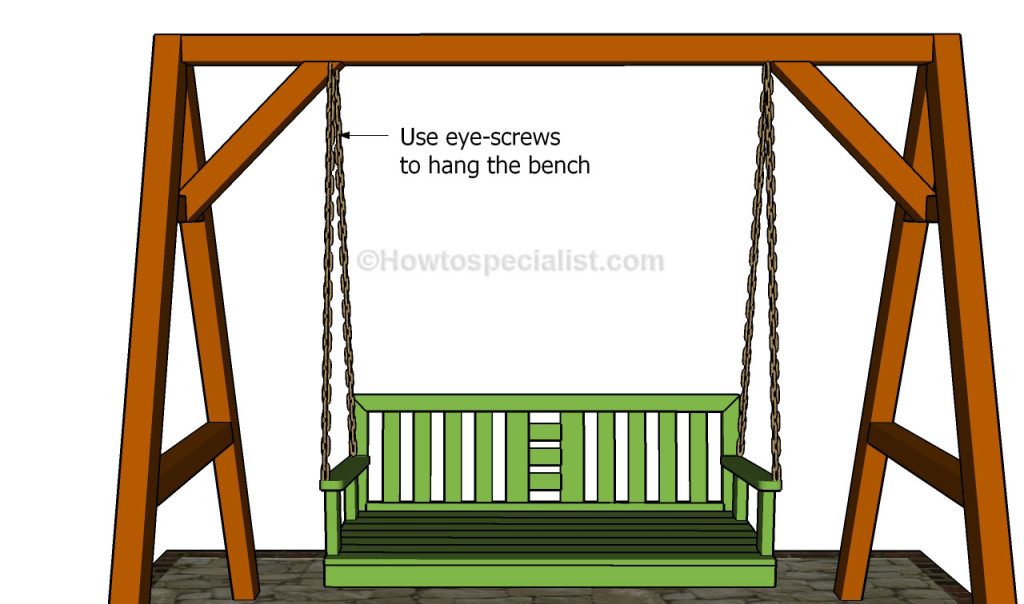 Hanging the bench