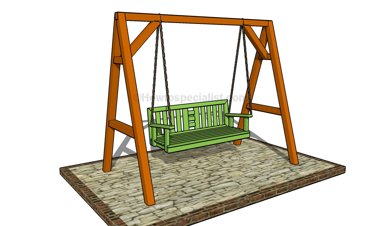 how to build a porch swing howtospecialist how to build step by step diy plans. Black Bedroom Furniture Sets. Home Design Ideas