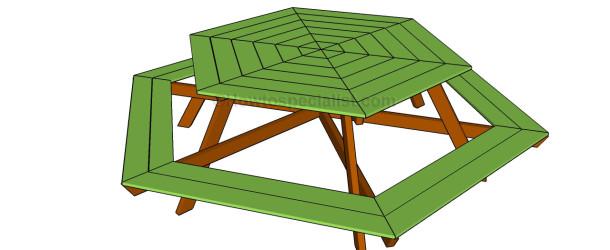 how to build a hexagon deck