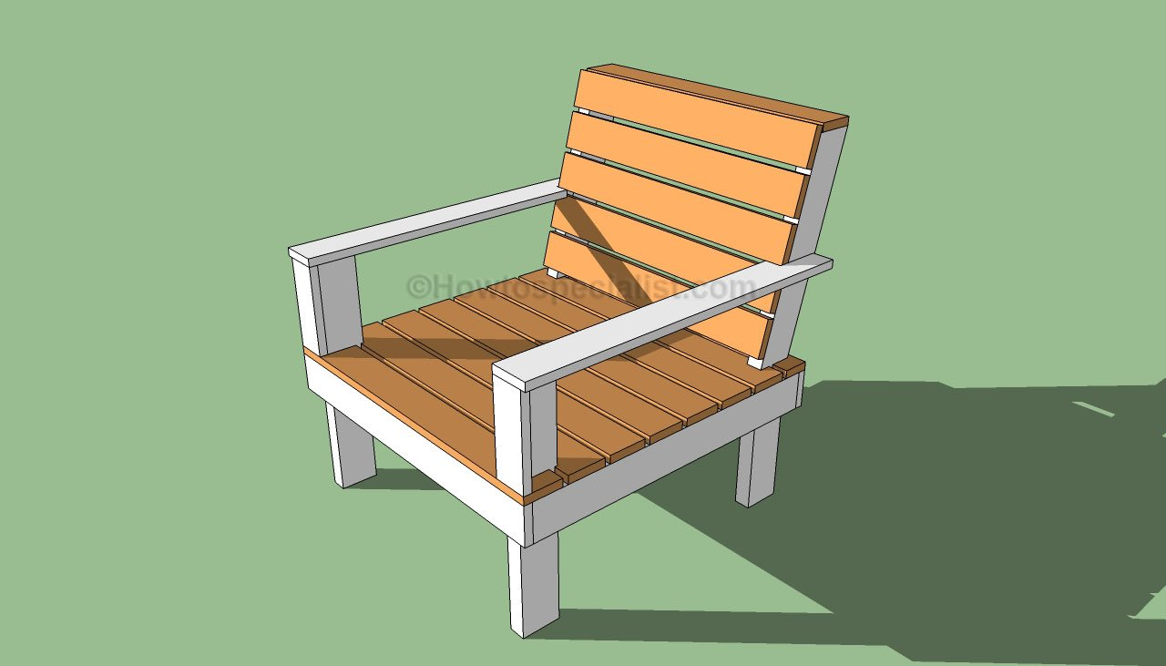 How to make a simple wooden chair - How To Build Outdoor Furniture Outdoor Chair