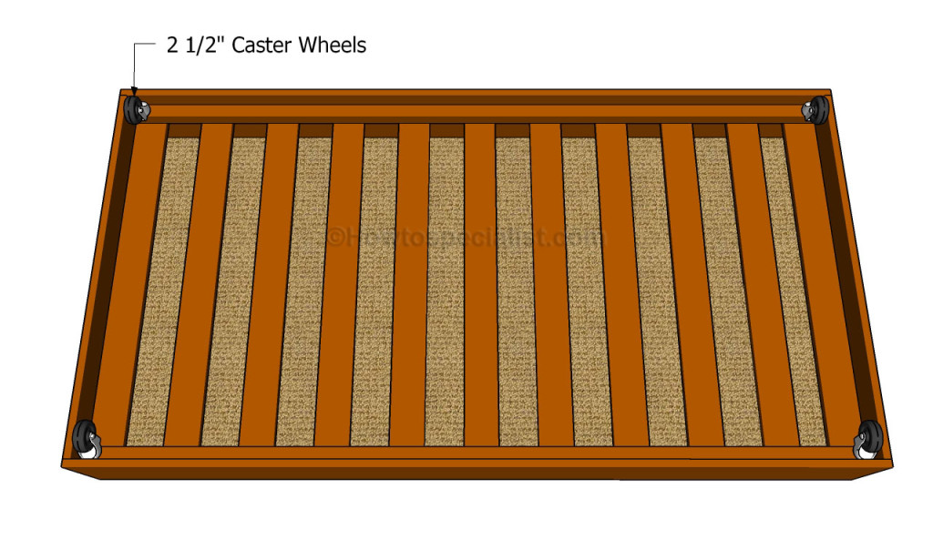 Attaching caster wheels