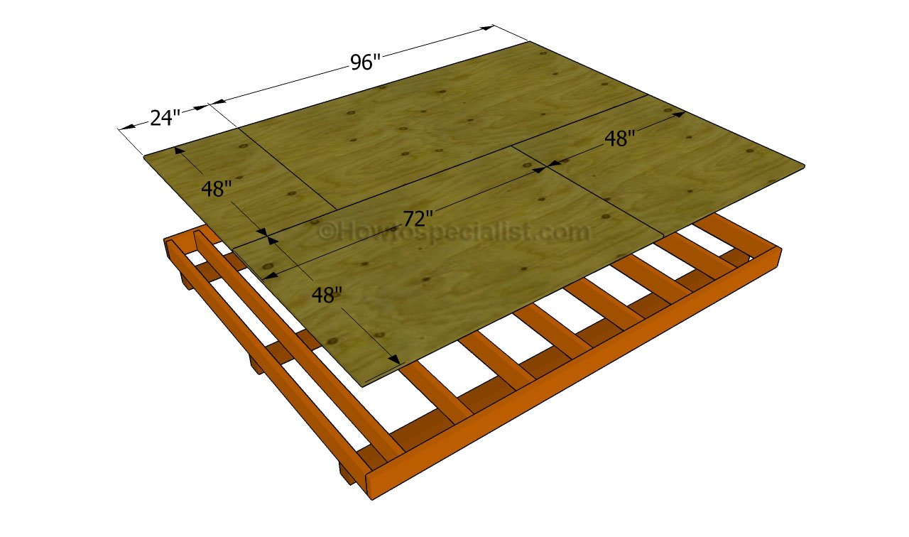 Build shed floor for 10x8 shed floor plans