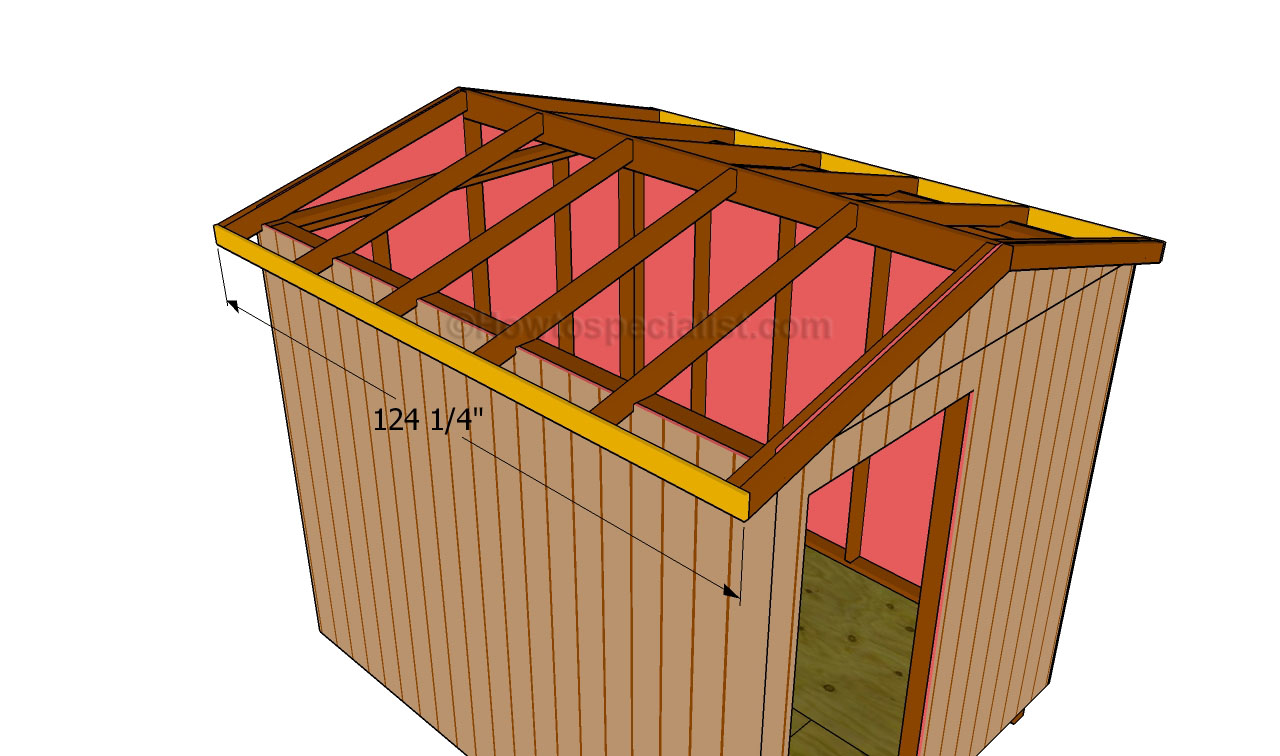 How to build a roof for a shed