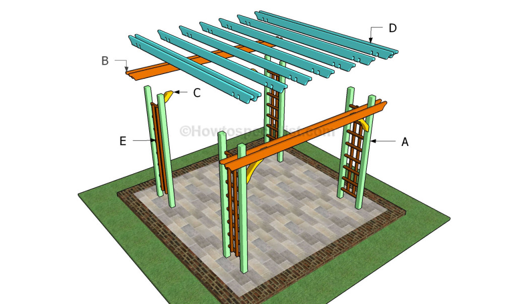 How to build a pergola on a patio | HowToSpecialist - How to Build, Step by Step DIY Plans