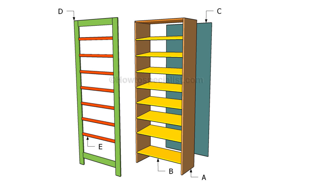 shoe rack plans howtospecialist how to build step by step diy