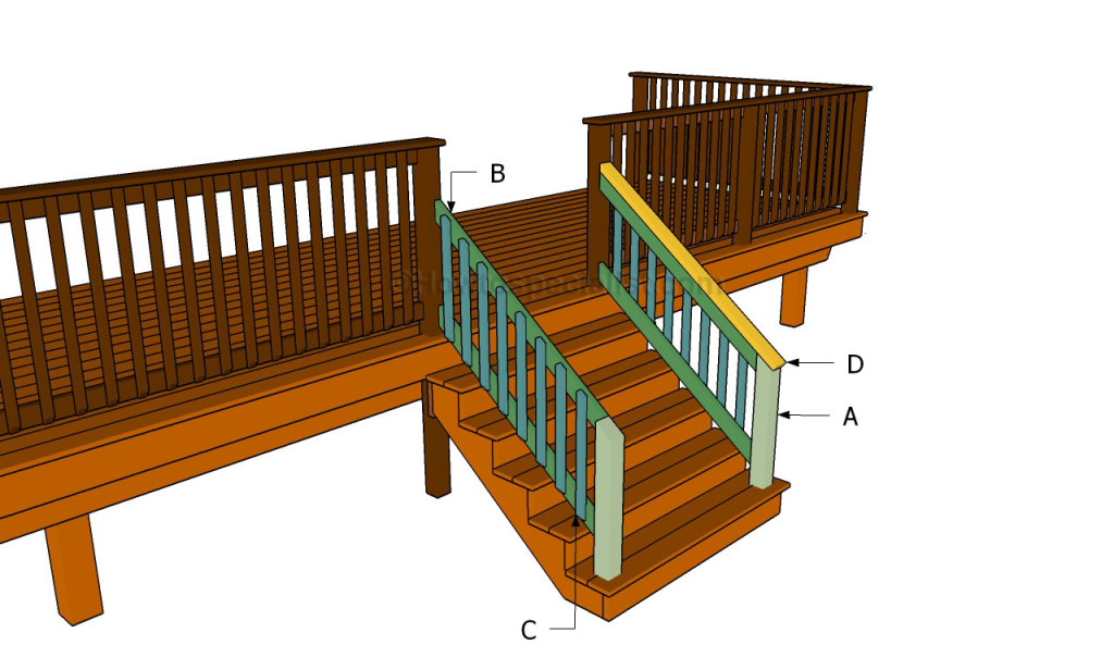 Building stair railing