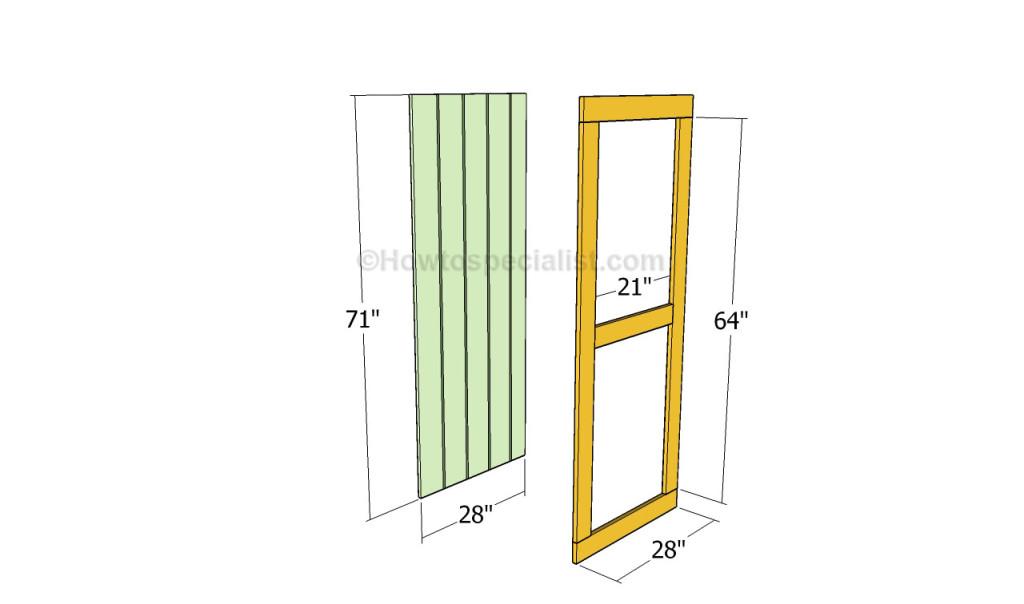 Building the coop door