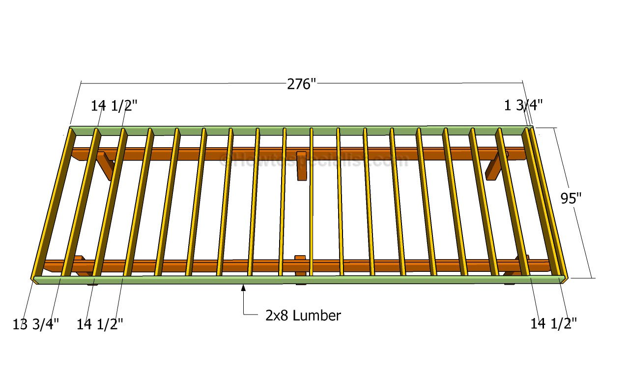 Deck Framing Diagram : How to build a front porch howtospecialist
