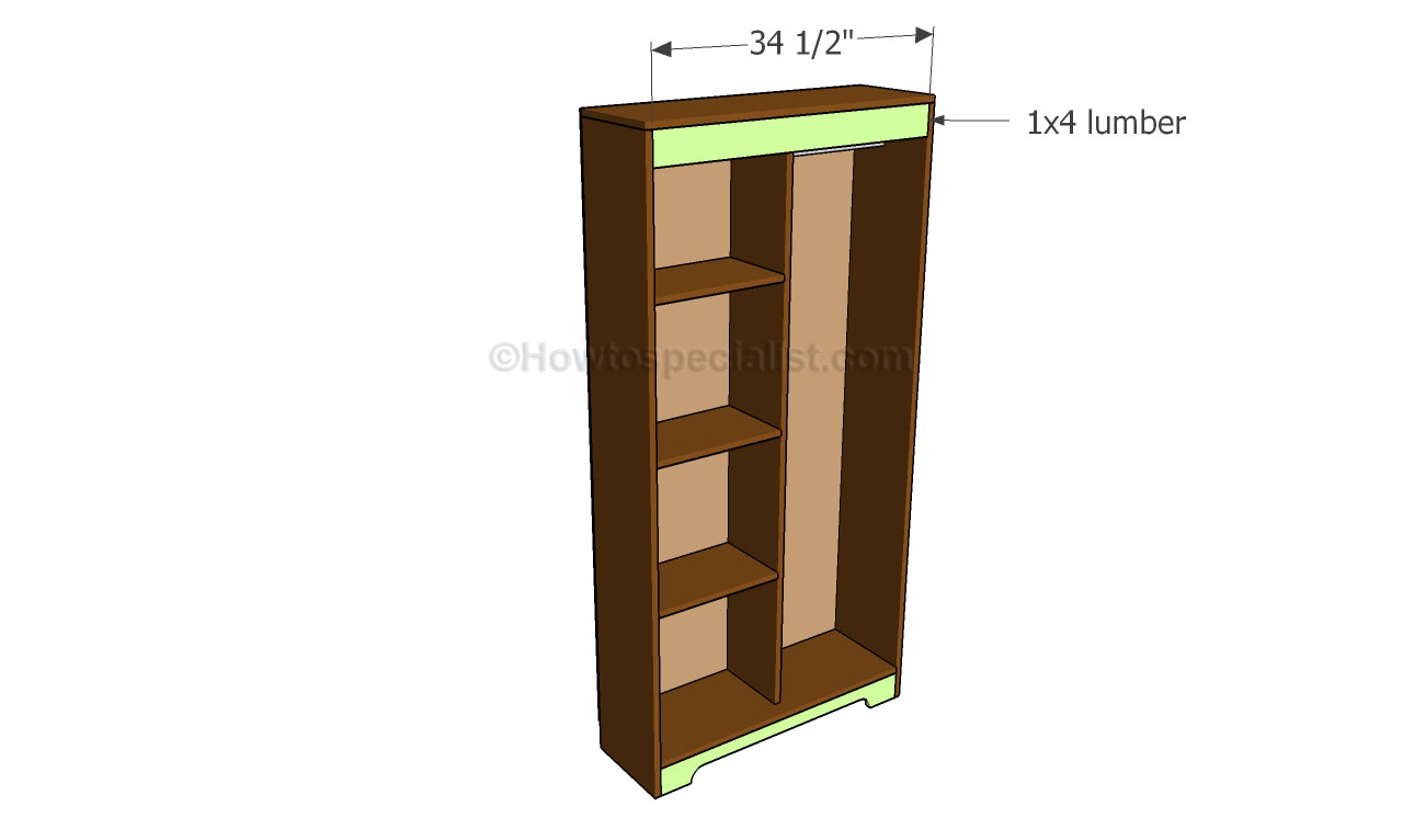 how to build an armoire wardrobe howtospecialist how. Black Bedroom Furniture Sets. Home Design Ideas