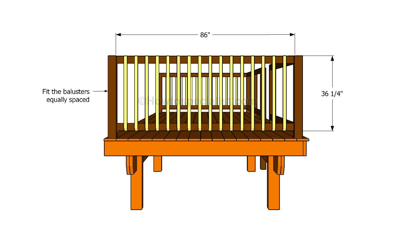 How to build porch railing