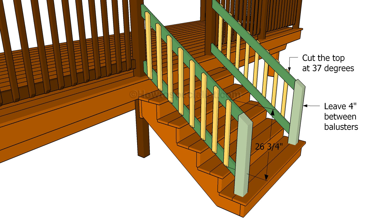How to build a porch stair railing