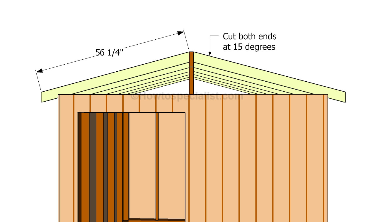 build a roof for a shed | HowToSpecialist - How to Build, Step by Step ...