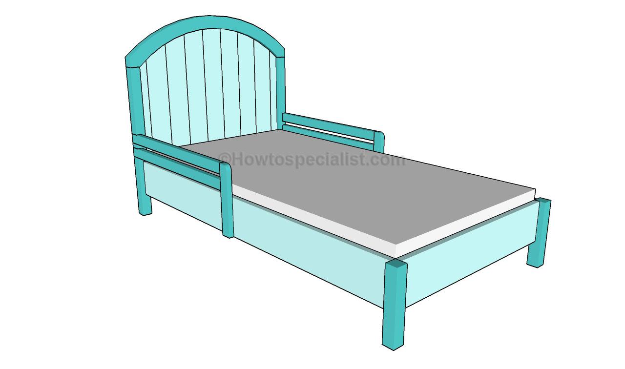 Toddler bed dresser set