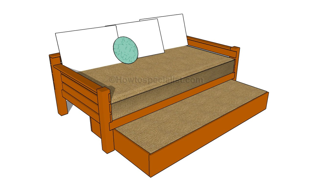 Pdf diy trundle bed frame plans download treehouse for House bed frame plans
