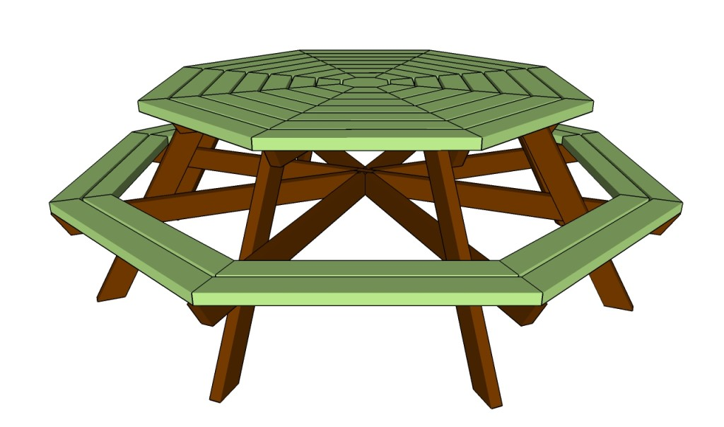 how to build an octagon picnic table howtospecialist