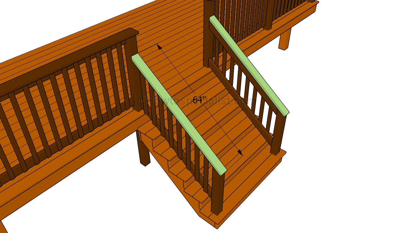 porch stair railing howtospecialist how to build step by step diy