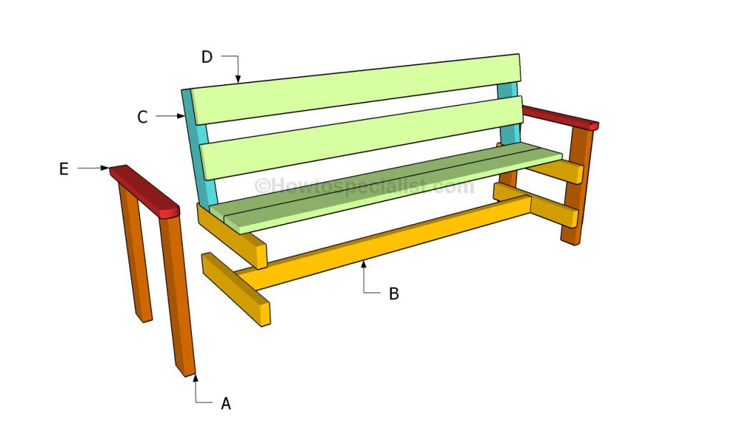 How to build a garden bench howtospecialist how to for D i y garden bench designs