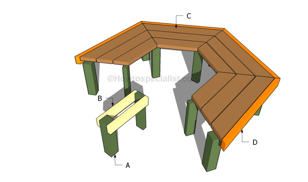 Building a tree bench