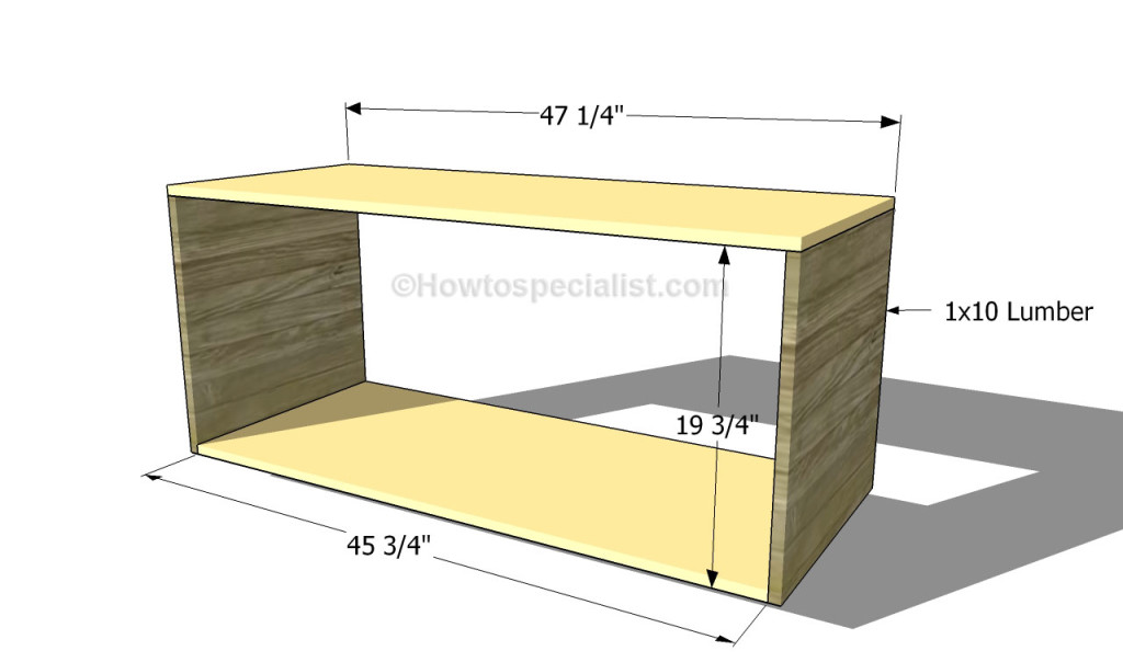 Building the frame of the tv stand