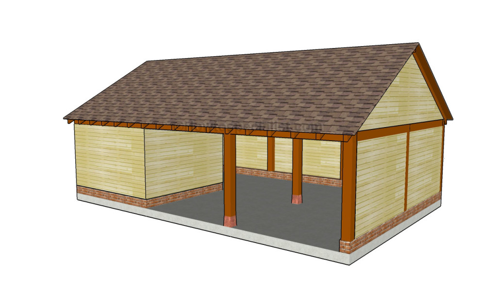 Carports with storage plans pictures for Carport with storage shed attached