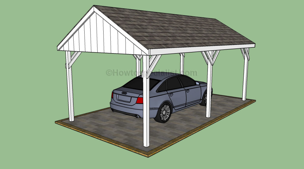 Carport designs howtospecialist how to build step by for Free standing carport plans