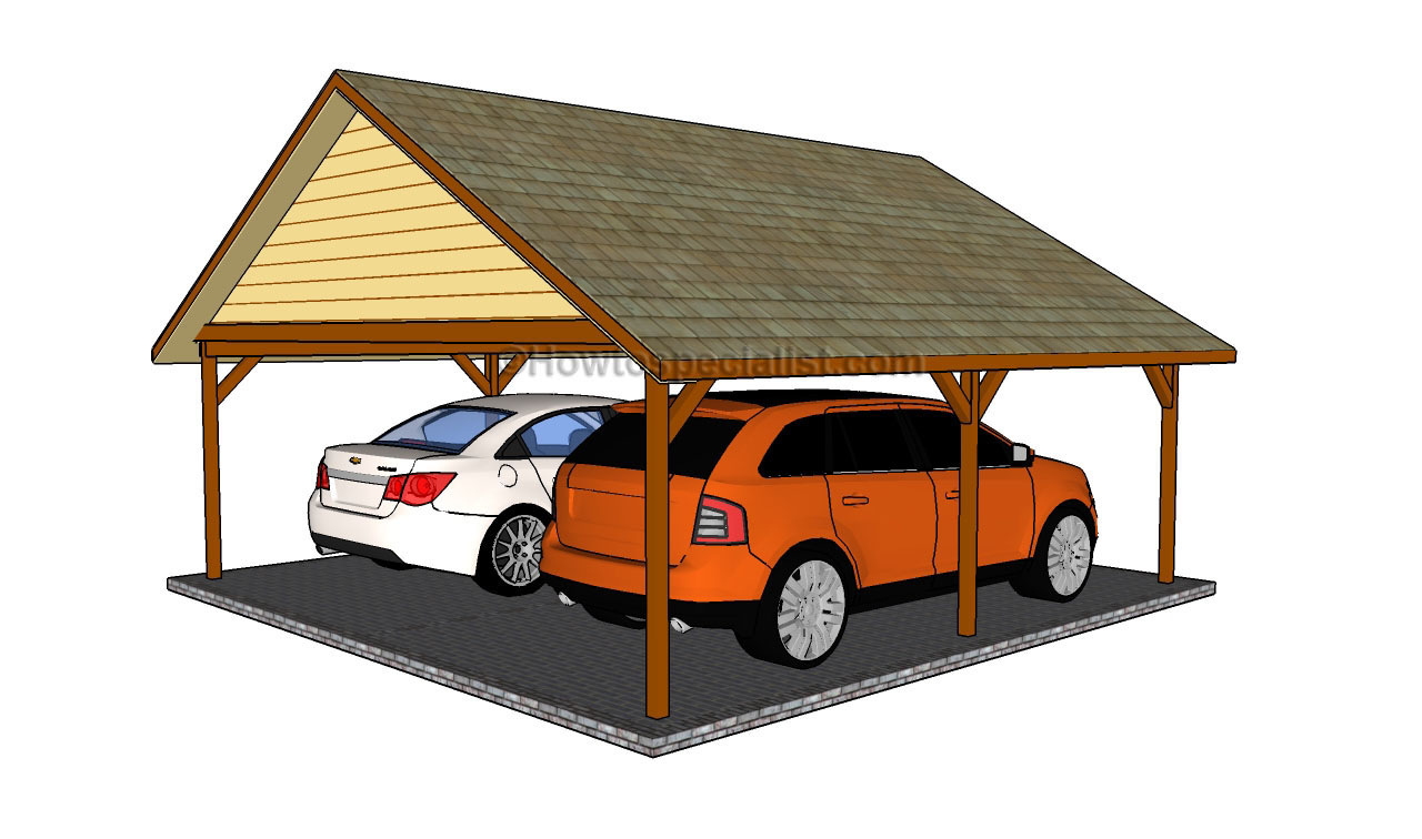 Carport designs howtospecialist how to build step by for 2 car carport plans free