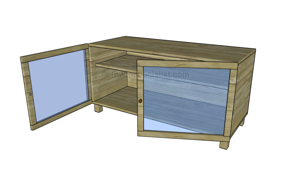 how to build a tv stand howtospecialist how to build. Black Bedroom Furniture Sets. Home Design Ideas