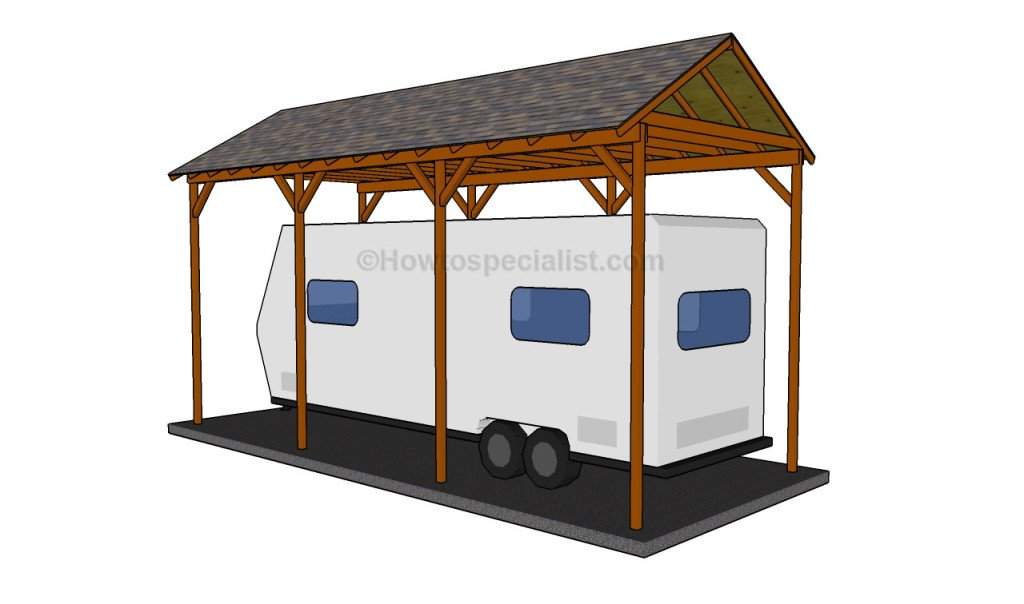 How to build a wooden carport howtospecialist how to for Motorhome carport plans