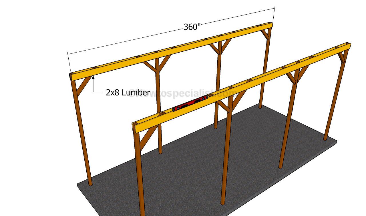 Free rv carport plans wood 13