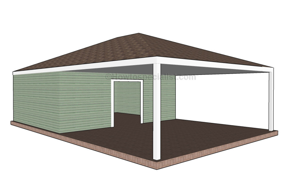 Traditional carport