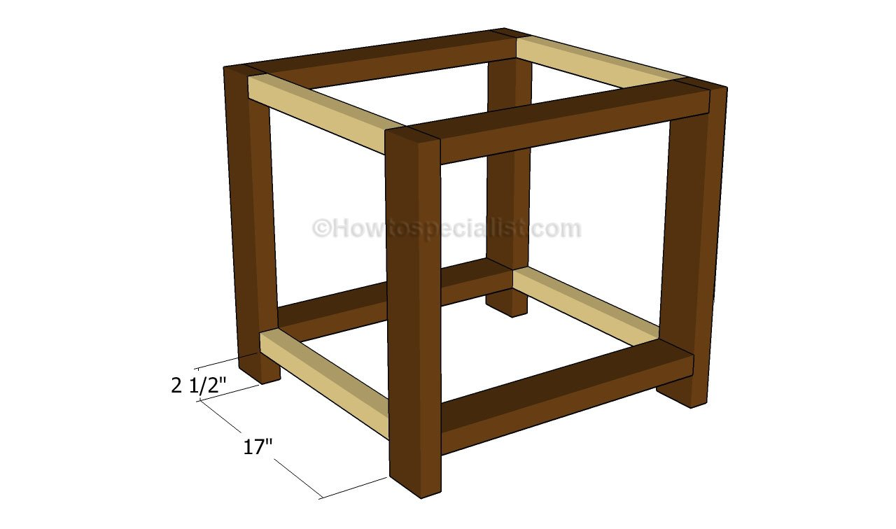 Building the frame of the end table