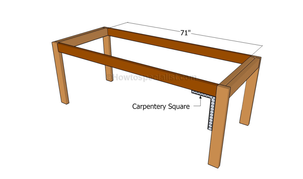 Building the frame of the table