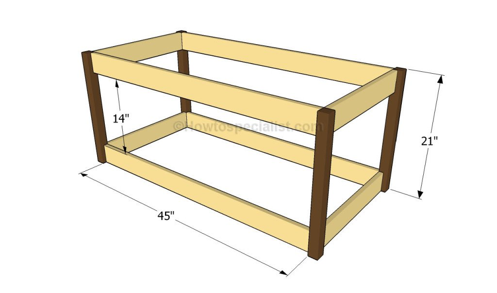 ... Make A Wood Slab Coffee Table. on plans to build a bench with storage
