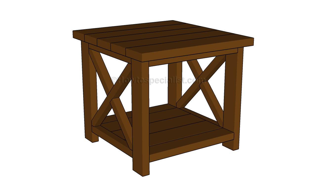 diy wood end table plans