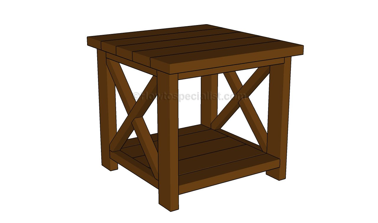 End table plans howtospecialist how to build step by for Side table plans