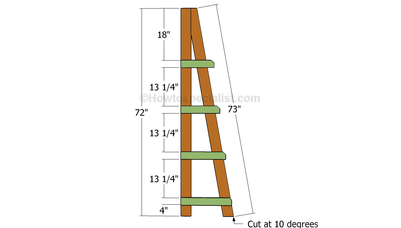 ladder shelf building plans