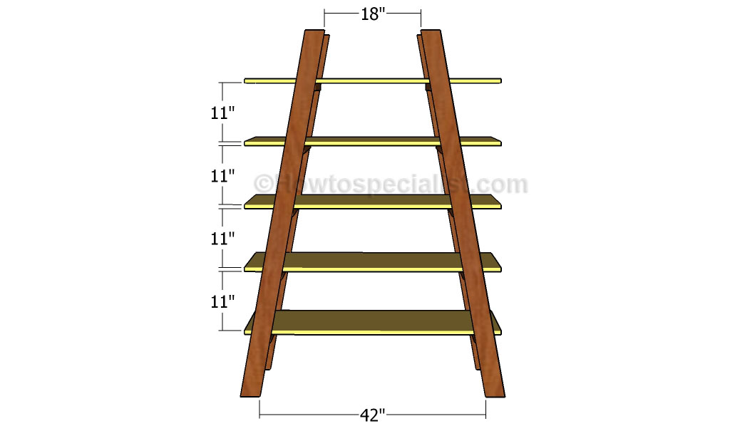 How to build ladder shelves | HowToSpecialist - How to Build, Step by ...