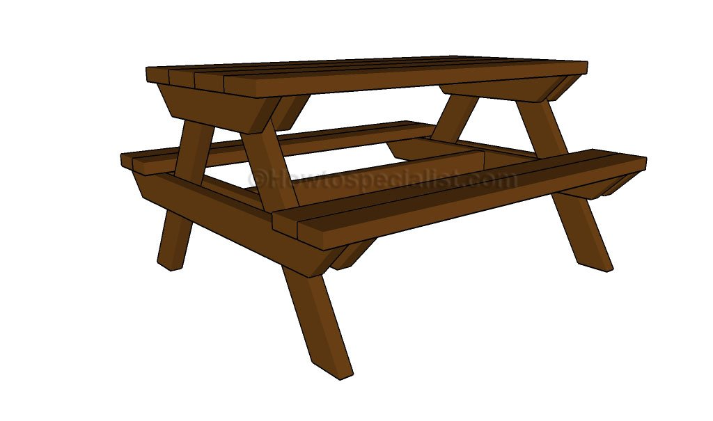 how to build a kids picnic table howtospecialist how to build step by step diy plans. Black Bedroom Furniture Sets. Home Design Ideas