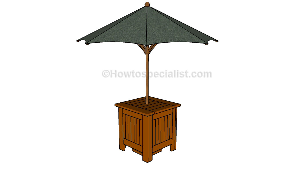 How to build an umbrella stand