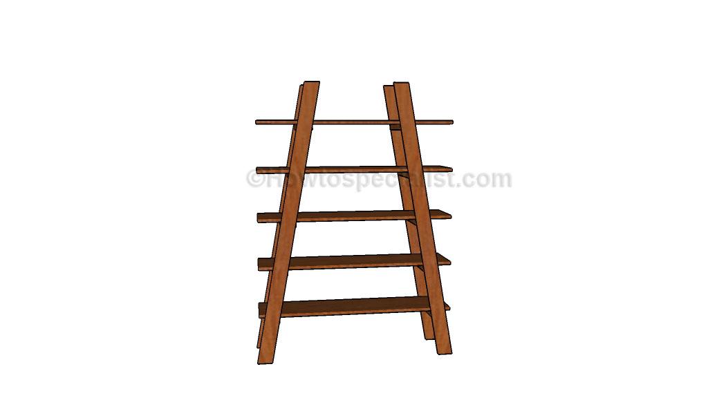 How to build ladder shelves