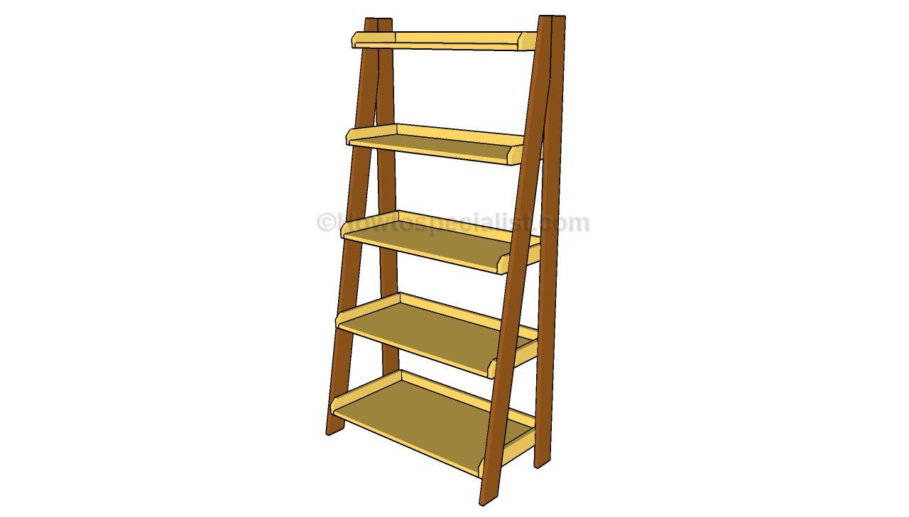 pdf diy woodworking plans ladder shelf download
