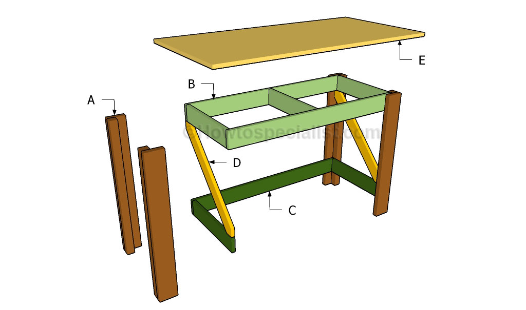 Build Simple Wooden Desk | www.woodworking.bofusfocus.com